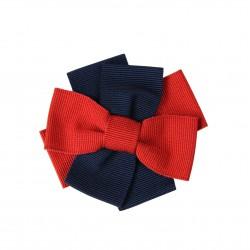 Broche tela azul/rojo BLUMARINE