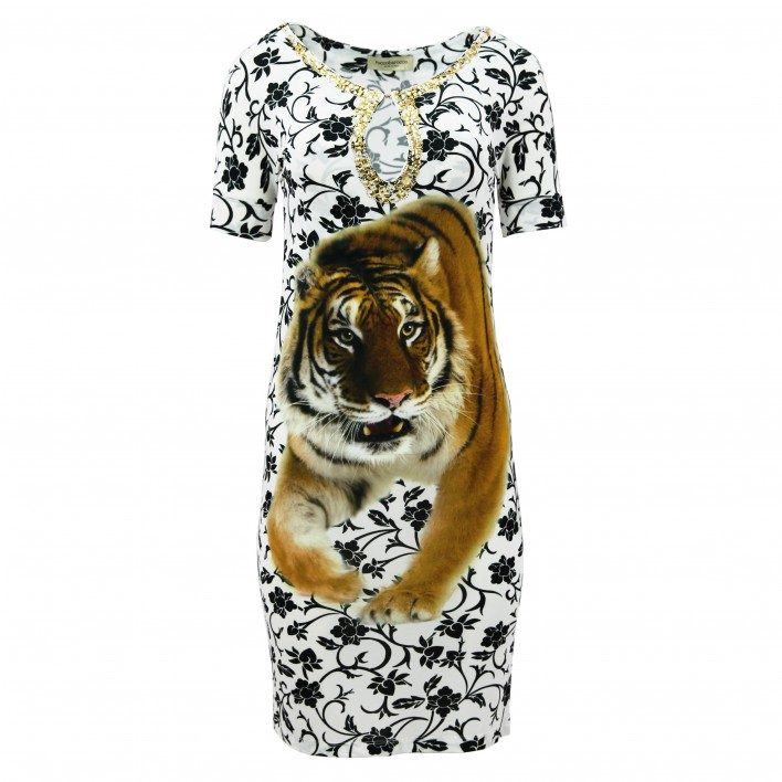 Vestido corto tigre ROCCOBAROCCO