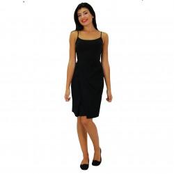 Falda corta drapeado negra BLUMARINE