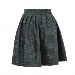 Falda negra brillos con vuelo FANNY COUTURE