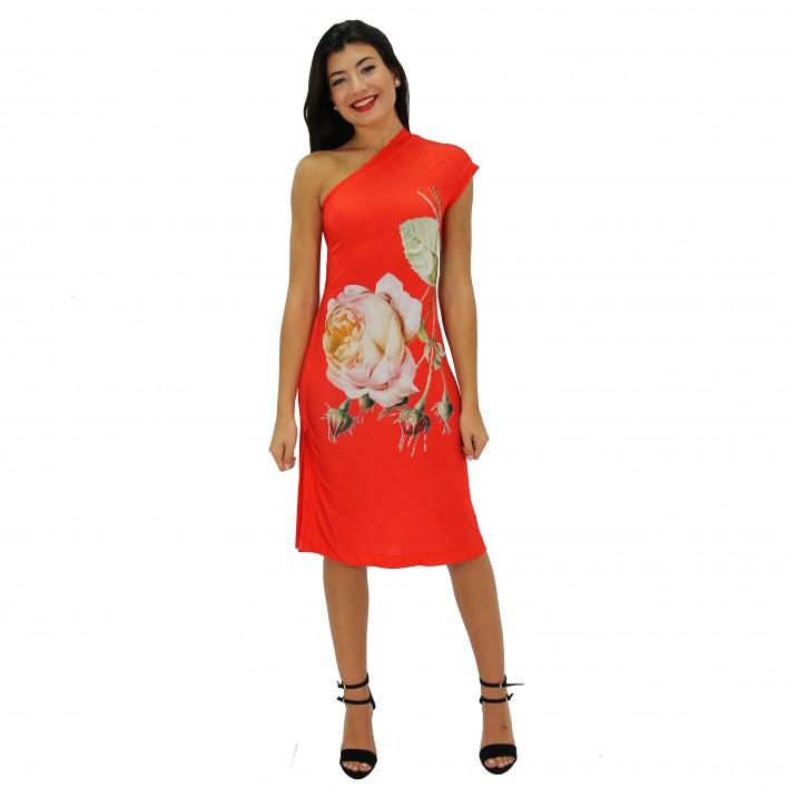 Vestido corto estampado rojo ROCCOBAROCCO
