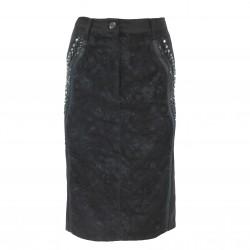 Falda negra con encaje ELISA FANTI