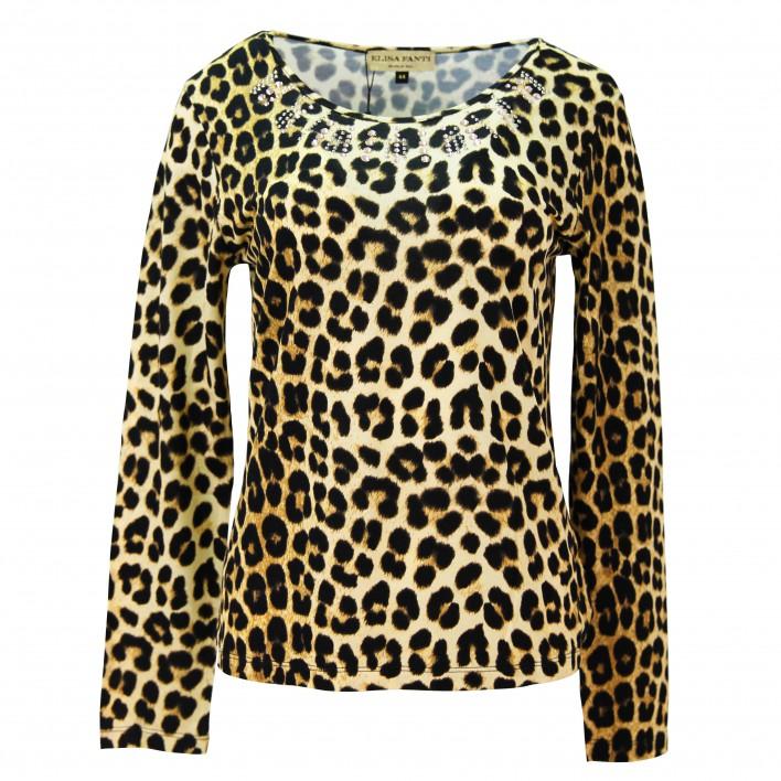 Camiseta estampado de leopardo ELISA FANTI