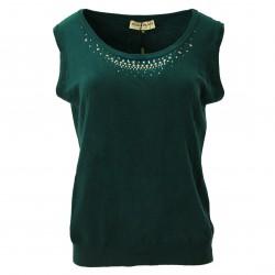 Jersey sin mangas verde ELISA FANTI
