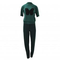 Jersey manga corta verde mariposa negra ELISA FANTI