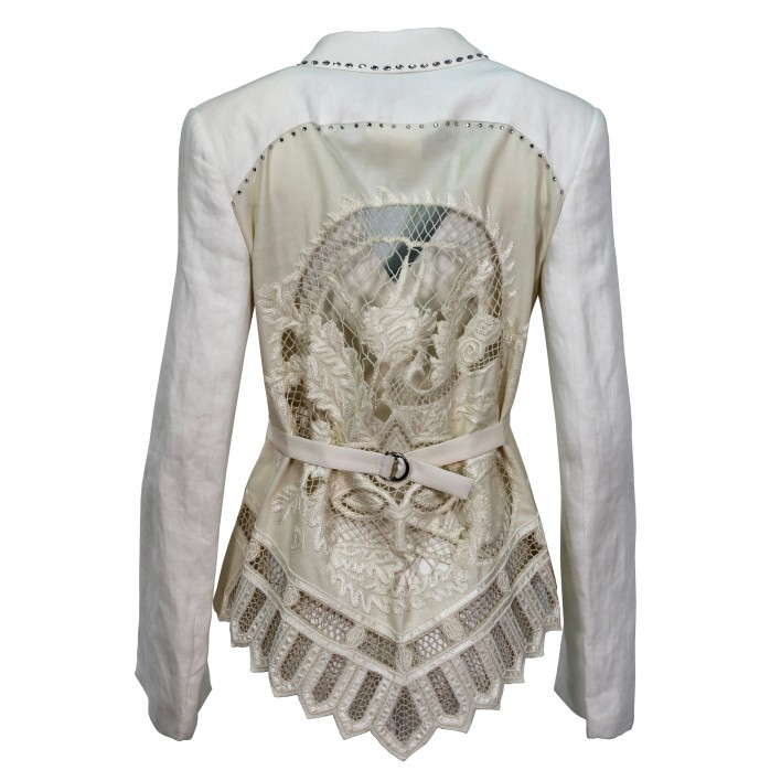 Blazer espalda crochet blanco-crudo JOHN RICHMOND