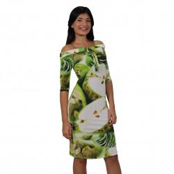 Vestido corto estampado verdes ROCCOBAROCCO