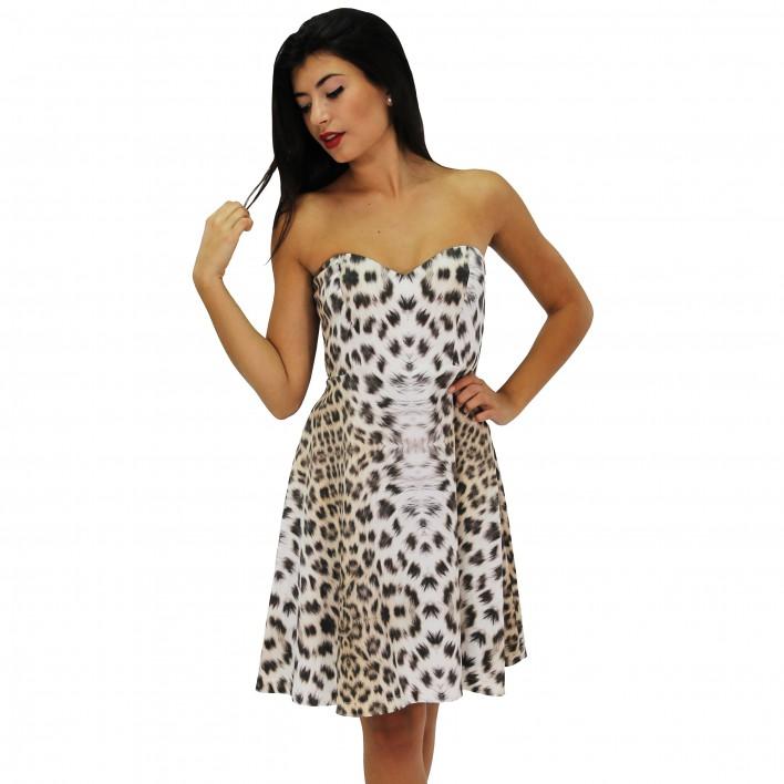 Vestido corto estampado leopardo ROCCOBAROCCO