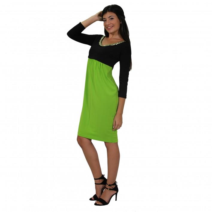 Vestido corto bicolor ROCCOBAROCCO