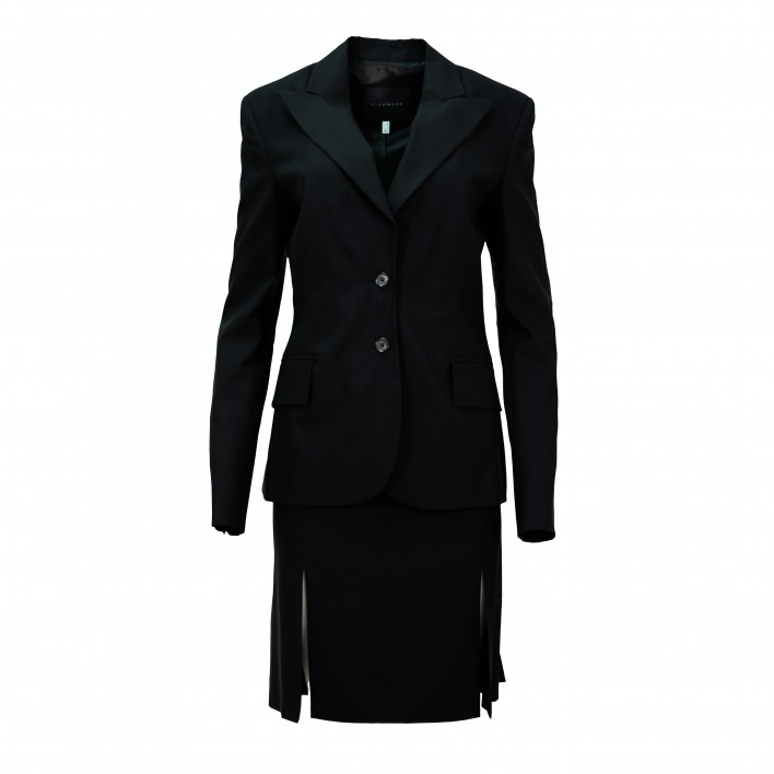Traje chaqueta falda basic negro (2 pzas) JOHN RICHMNOND