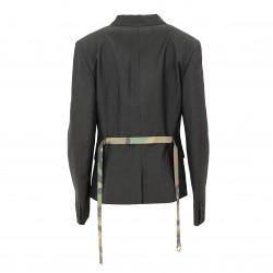Blazer cinturón camuflaje raya diplomática gris JOHN RICHMOND