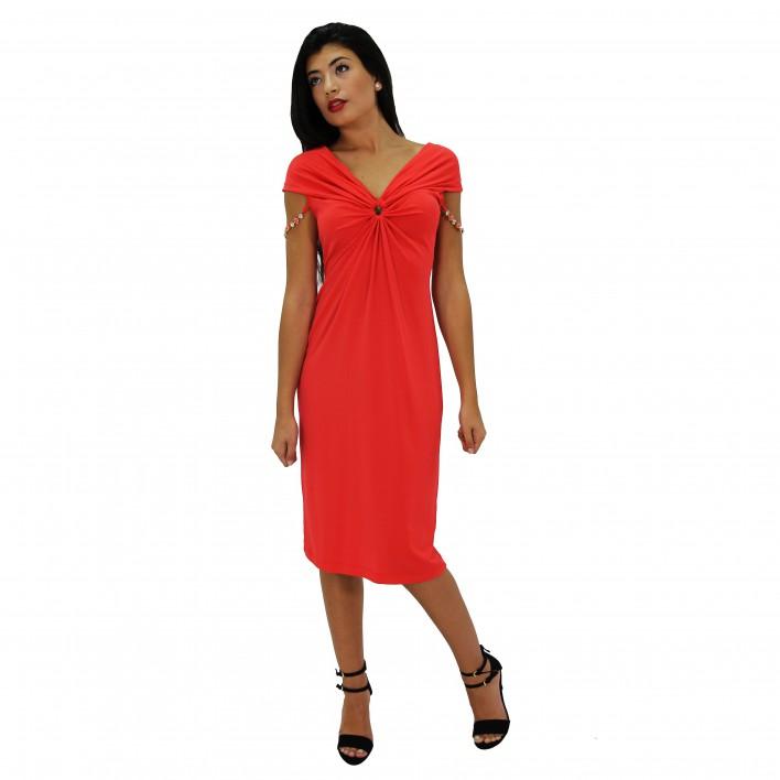 Vestido corto rojo ROCCOBAROCCO