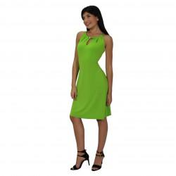 Vestido verde tres brillantes ROCCOBAROCCO
