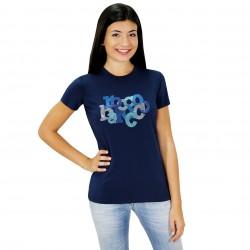Camiseta manga corta azul ROCCOBAROCCO