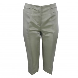 Pantalón capri seda verde claro PRADA