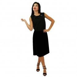 Vestido bicolor verde/negro PRADA