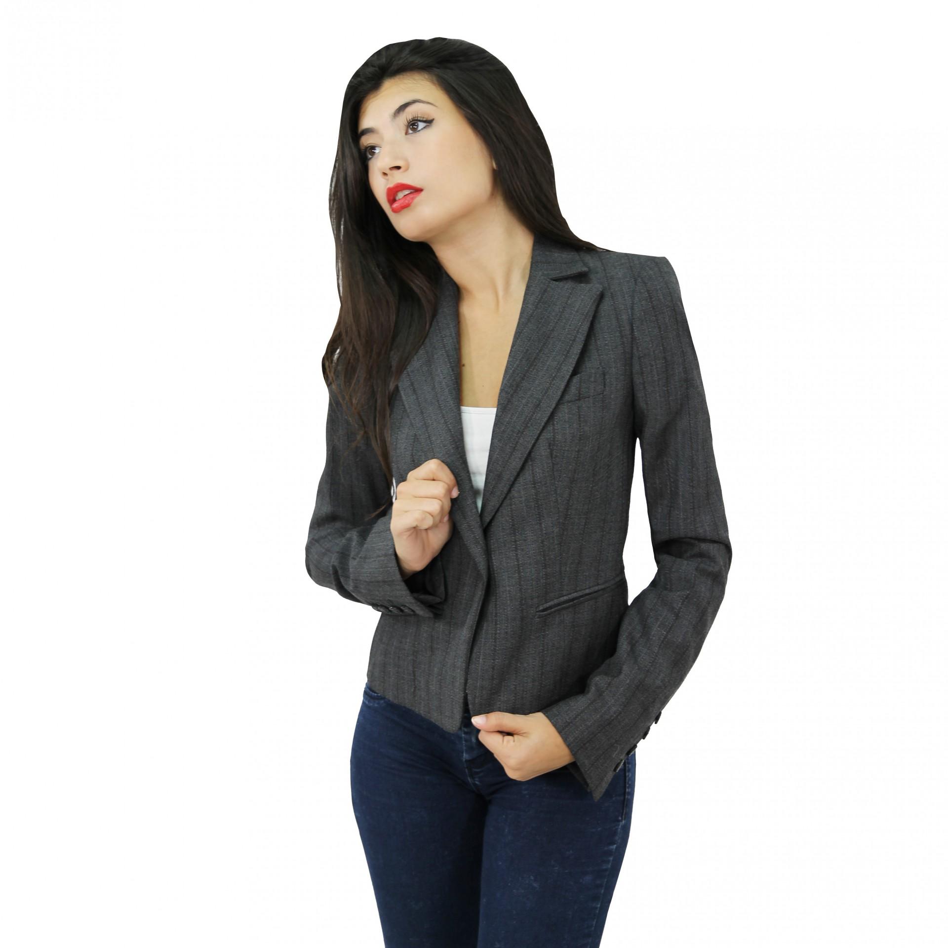 Blazer rayas verticales mujer