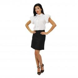 Vestido bicolor blanco/negro FOLIES BLUMARINE