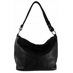 Bolso doble asa liso 100%PIEL MADE IN ITALY negro