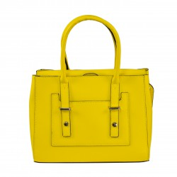 Bolso de mano 100%PIEL MADE IN ITALY amarillo