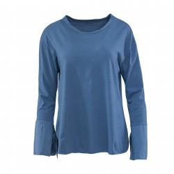 Blusa camiseta lazo manga MADE IN ITALY azulón