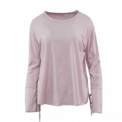 Blusa camiseta lazo manga MADE IN ITALY rosa palo