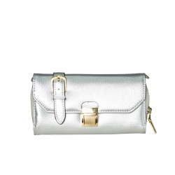 Bolso clutch monedero plata