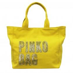 Bolso tela amarillo PINKO
