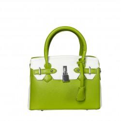 Bolsob frame bicolor pequeño verde/blanco