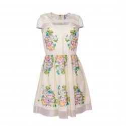 Vestido con transparencias y estampado floral BLUMARINE