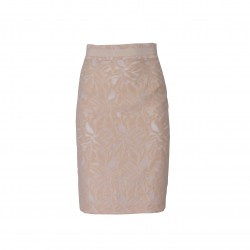 Falda recta damasco crudo BLUMARINE