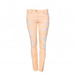 Jeans desgastados rosa salmón BLUMARINE