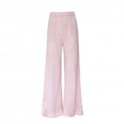 Pantalón fluido seda rosa BLUMARINE