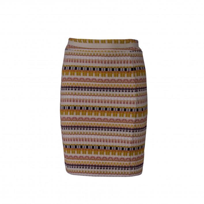 Falda recta tejido rayas multicolor BLUMARINE