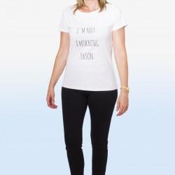 Camiseta texto I´m not...