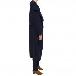 Abrigo solapas maxi azul