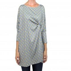 Camiseta larga estampado lunares gris MANOLITA FALDOTAS