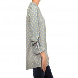 Camiseta lazo manga estampado lunares gris MANOLITA FALDOTAS