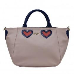 Bolso BLUGIRL corazones azul/rosa BLUMARINE