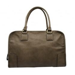 Bolso de mano tipo maletín taupe