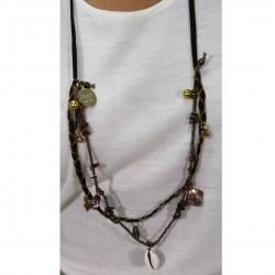 Collar abalorios marrón BLUMARINE