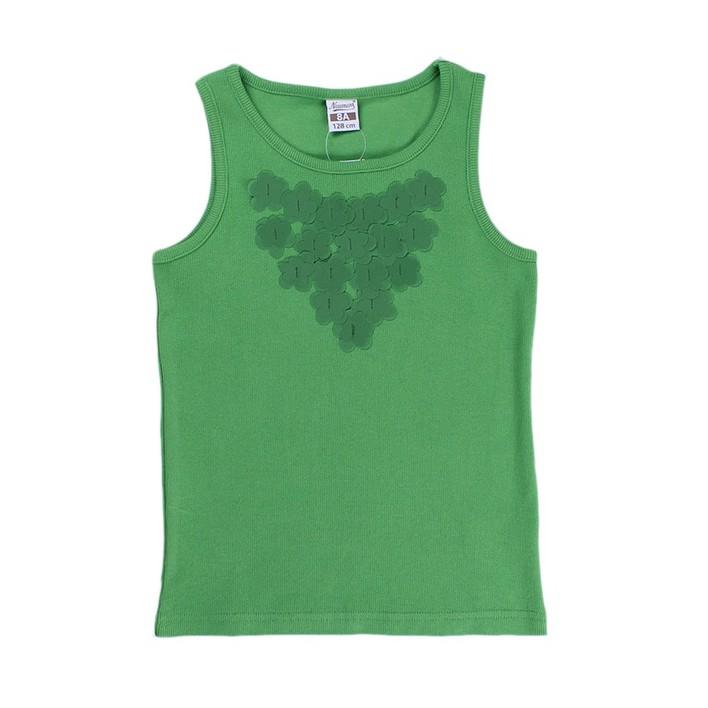 Camiseta aplique verde