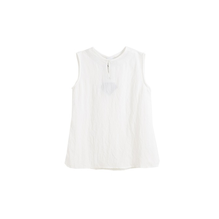 Blusa sin mangas blanca