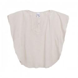 Camiseta poncho beige