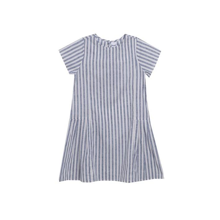 Vestido rayas manga corta