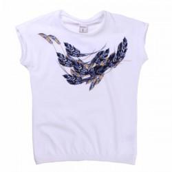 Camiseta estampado plumas