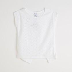 Camiseta manga corta troquelada