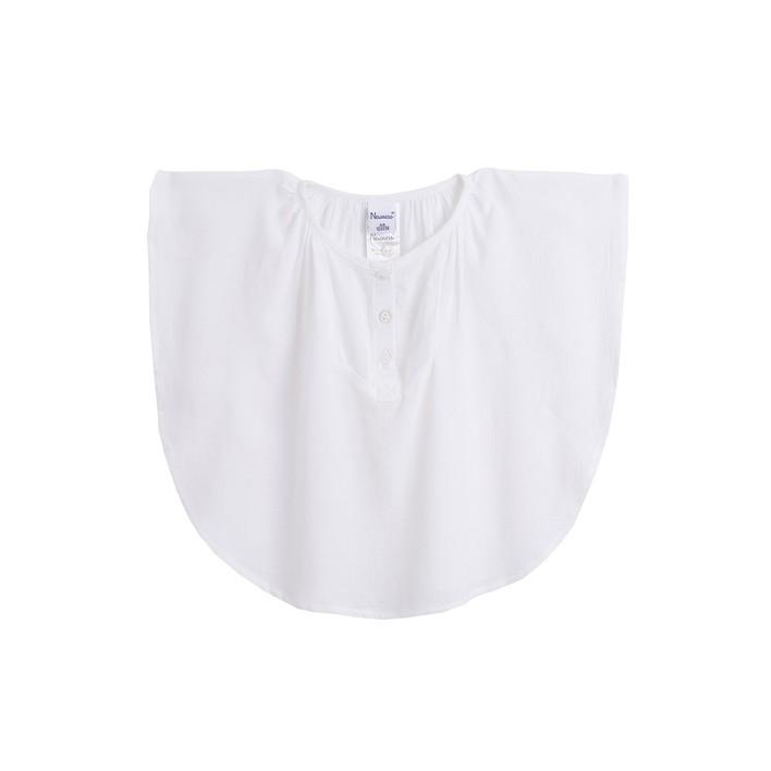 Blusa poncho crudo
