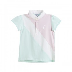Polo multicolor (verde/rosa/blanco)