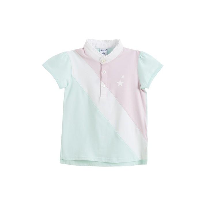 Polo multicolor (verde/rosa/blanco)